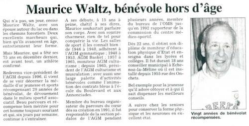 Maurice Waltz, président d'AGM Culturisme Vesoul